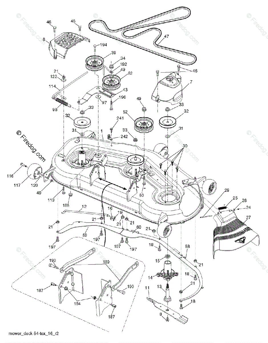 hight resolution of husqvarna tractors ride mowers gth24k54 96043014900 2012 08 oem parts diagram for mower deck cutting deck firedog com