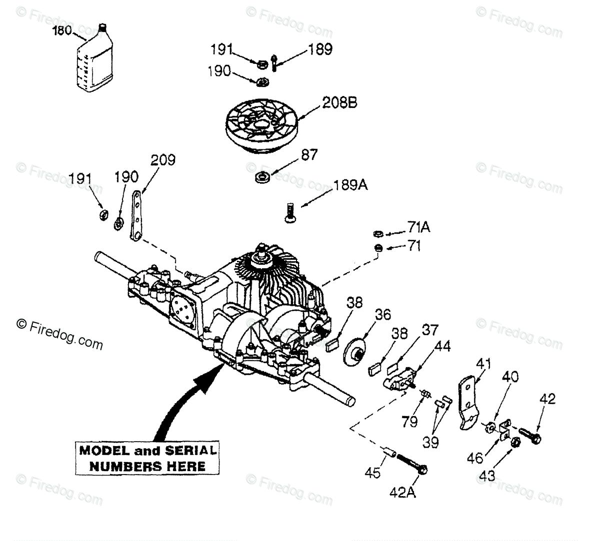 hight resolution of husqvarna ride mower yth 180 hcyth180c 954140010 1997 01 oem parts diagram for peerless transaxle model number 205 026b firedog com