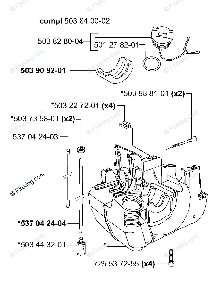 Husqvarna Clearing Saw 225 R (2000-10) OEM Parts Diagram