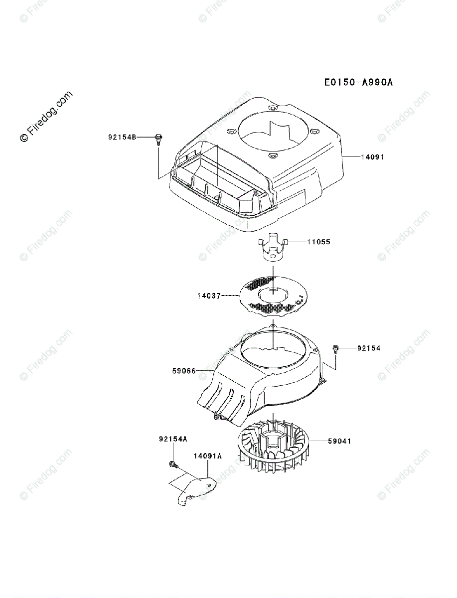 hight resolution of kawasaki 4 stroke engine fj180v oem parts diagram for cooling equipment firedog com