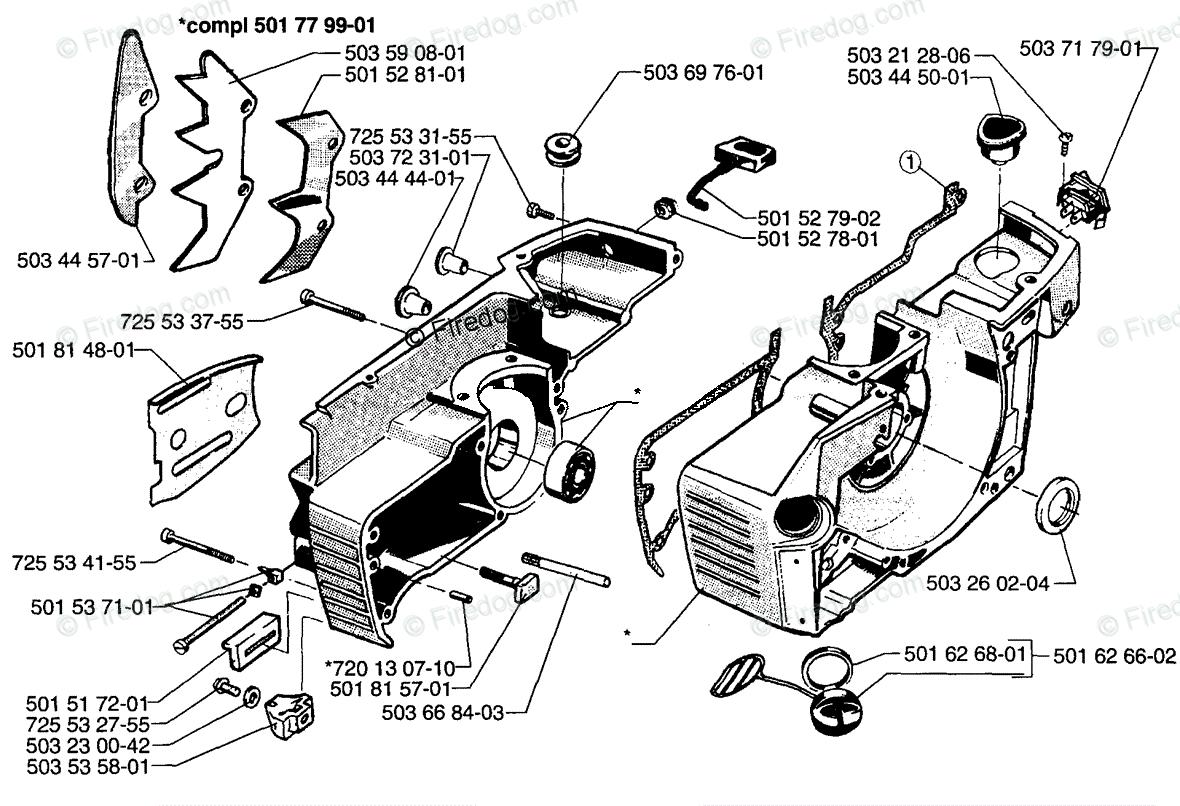 Husqvarna Chain Saw 272 XP (1997-01) OEM Parts Diagram for