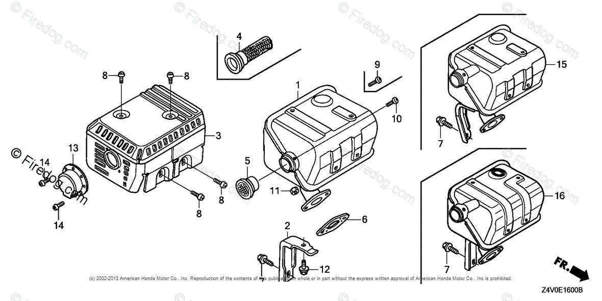 Honda Engines Engine GX OEM Parts Diagram for Muffler