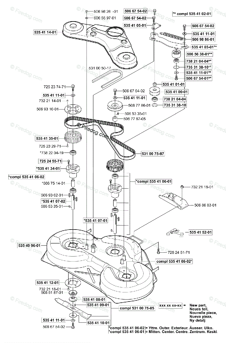 Husqvarna Ride Mower Rider Proflex 18 (2001-01) OEM Parts