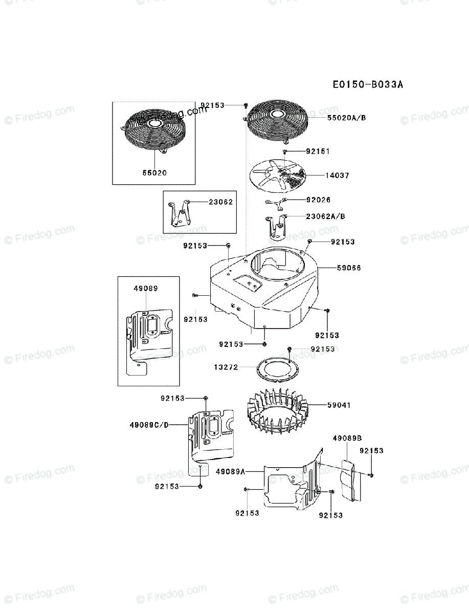 Kawasaki 4 Stroke Engine FX691V OEM Parts Diagram for