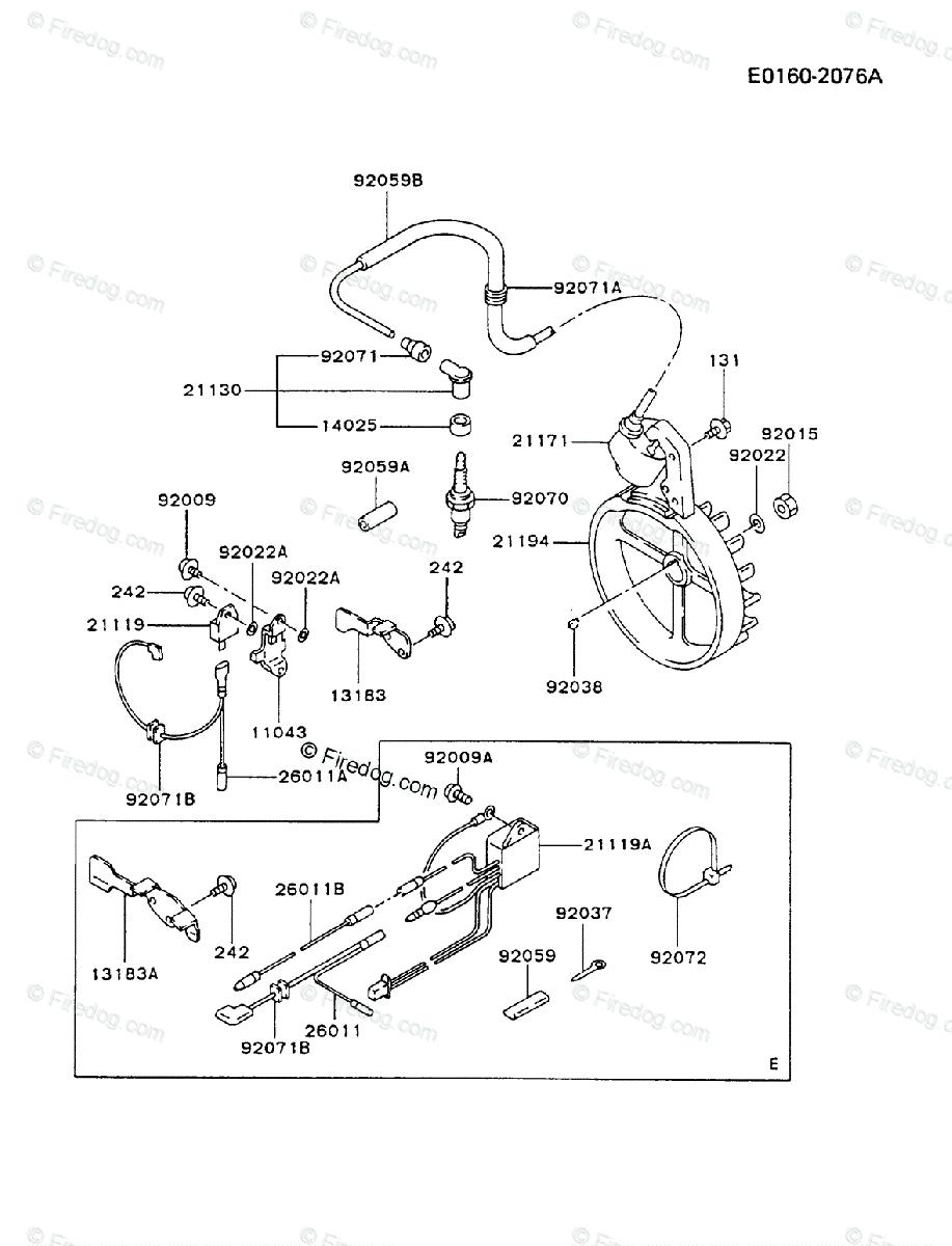 Kawasaki Generator GA1800A OEM Parts Diagram for ELECTRIC