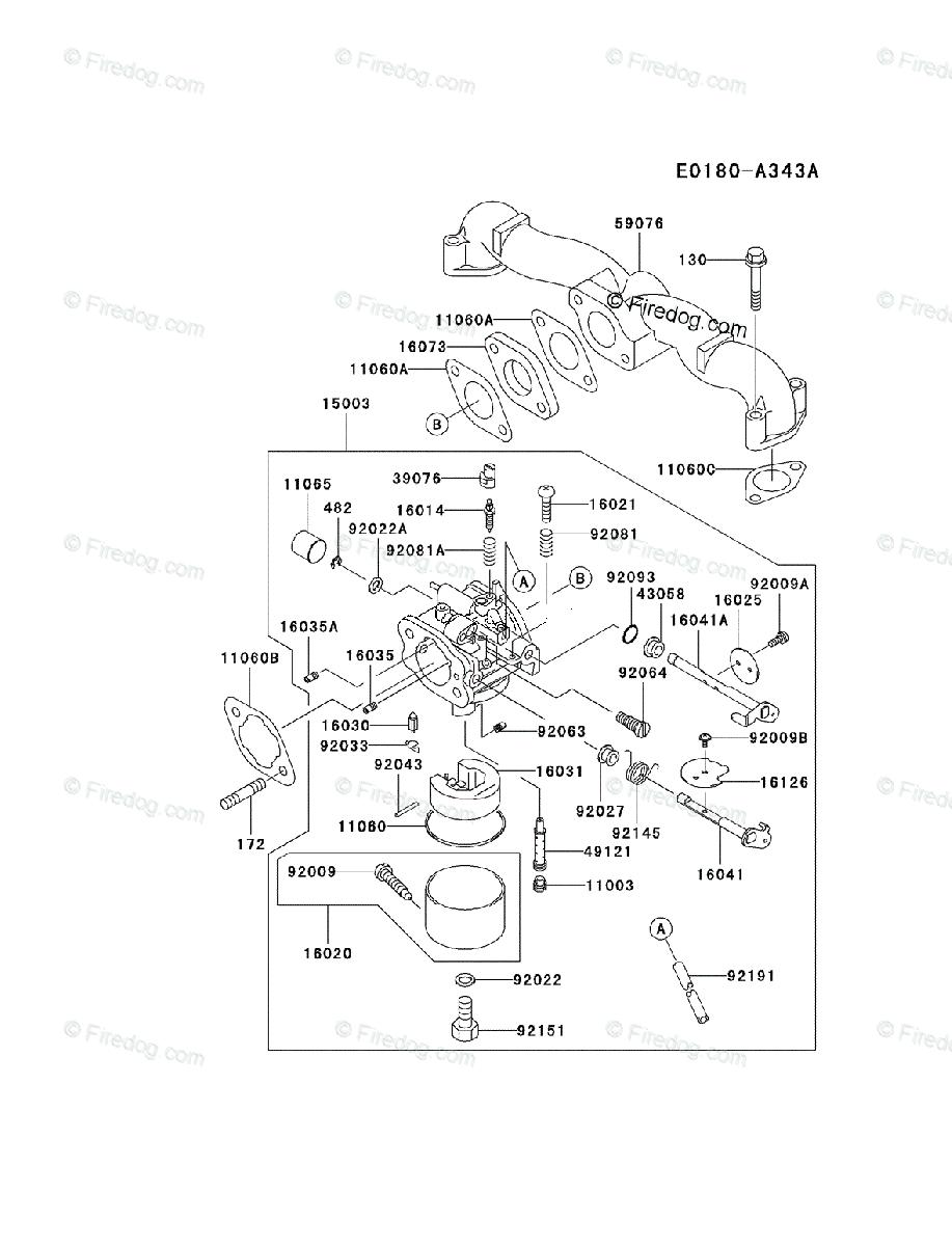 medium resolution of kawasaki 4 stroke engine fh500v oem parts diagram for carburetor firedog com
