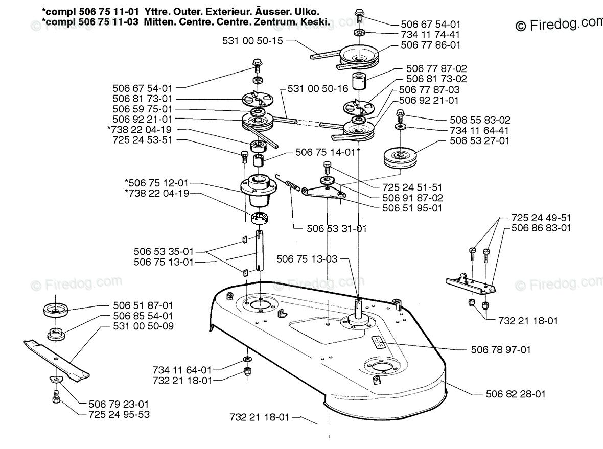 Husqvarna Ride Mower Rider 1200 (1998-01) OEM Parts