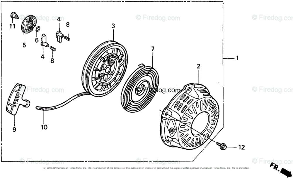 medium resolution of honda engines engine gx oem parts diagram for recoil starter firedog com