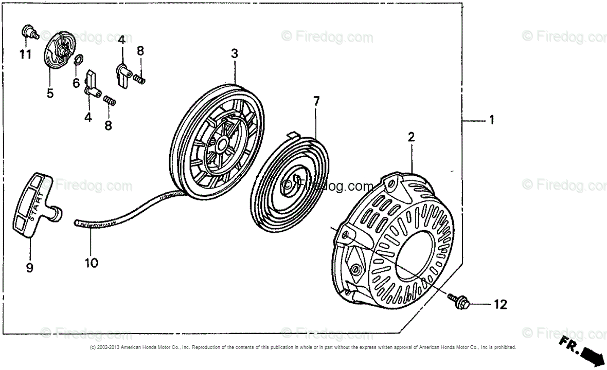 hight resolution of honda engines engine gx oem parts diagram for recoil starter firedog com