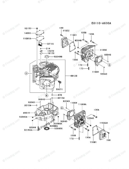 small resolution of kawasaki 4 stroke engine fr651v oem parts diagram for cylinder crankcase firedog com
