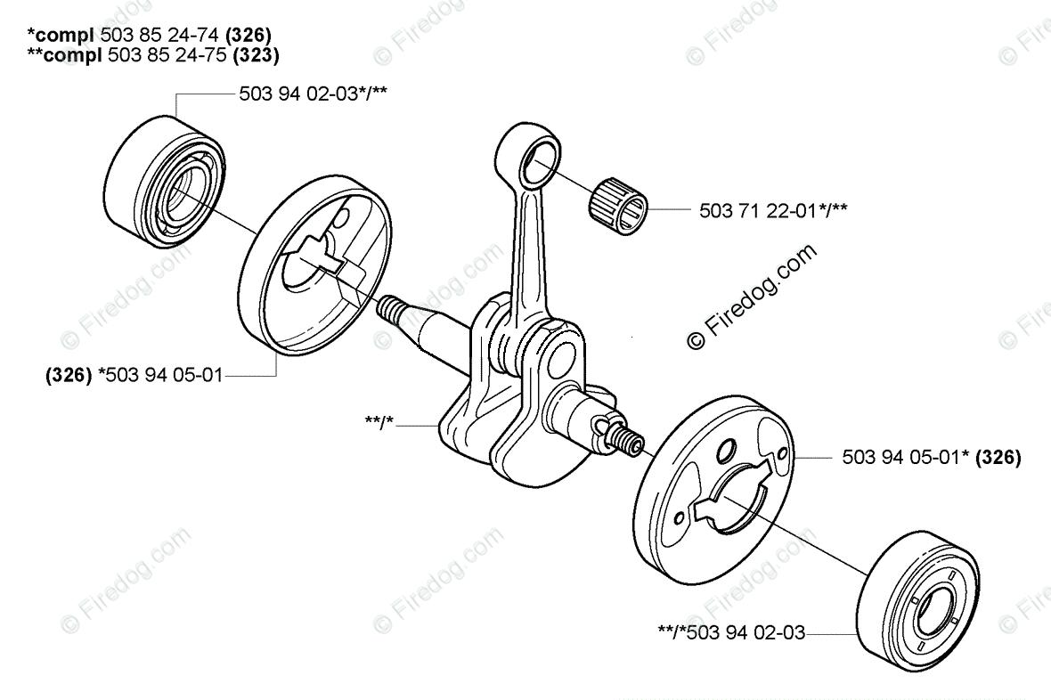 Husqvarna Trimmer 326 RJX (2007-01) OEM Parts Diagram for