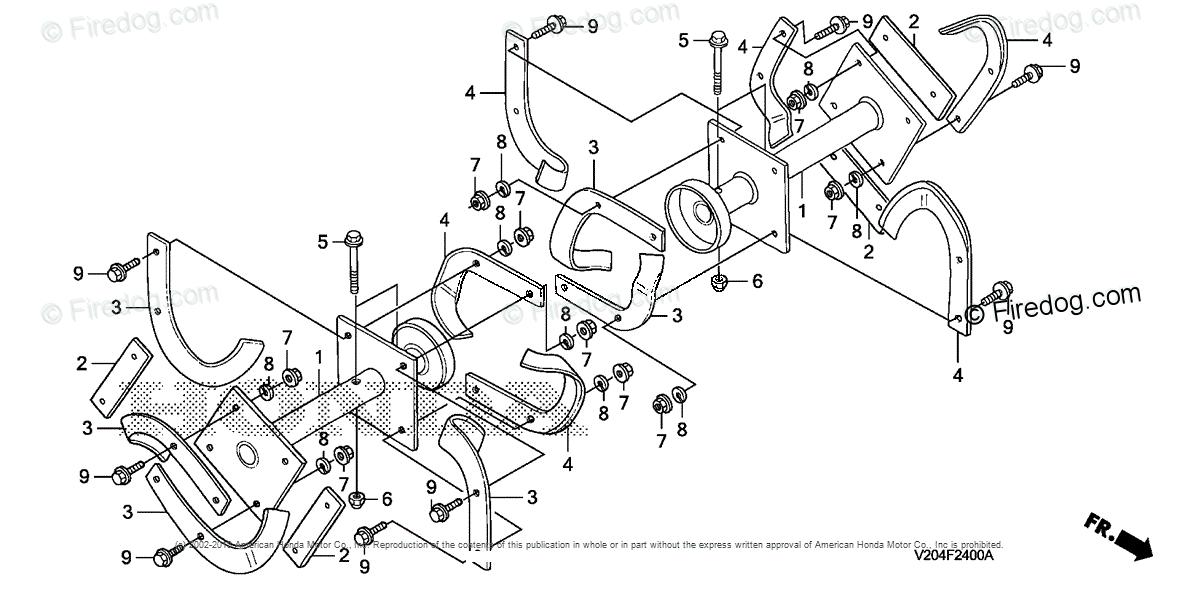 Honda Power Equipment Rototiller FRC800 A ROTOTILLER, JPN