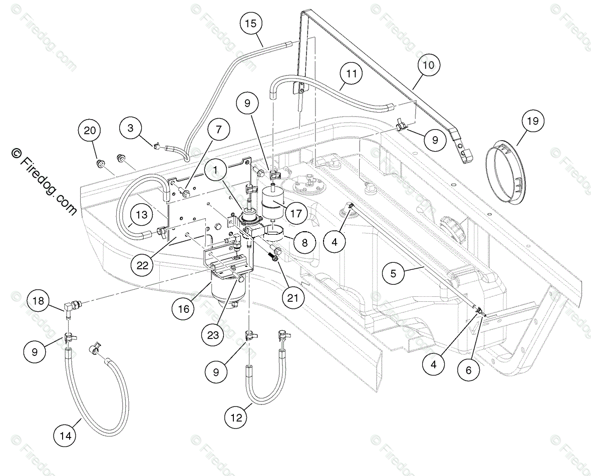 Husqvarna Utility Vehicle Huv Dxp Oem Parts Diagram For Fuel Systemsel