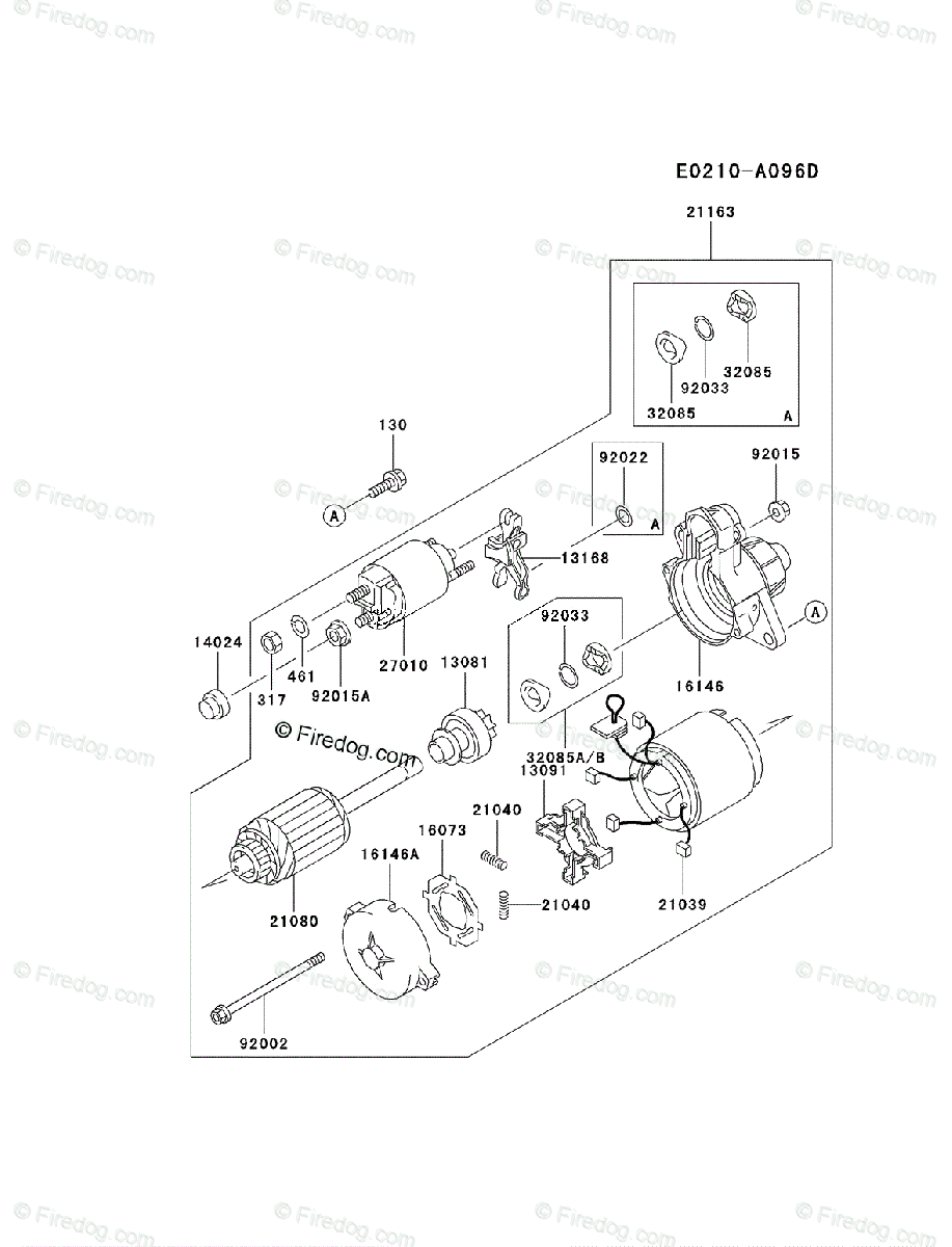 Kawasaki 4 Stroke Engine FD620D OEM Parts Diagram for