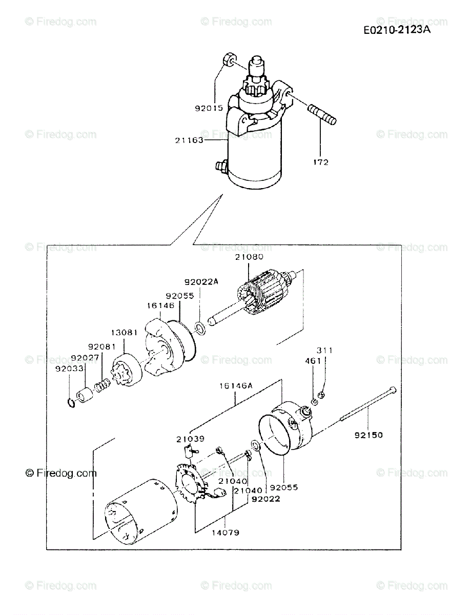 hight resolution of kawasaki 4 stroke engine fc290v oem parts diagram for starter firedog com