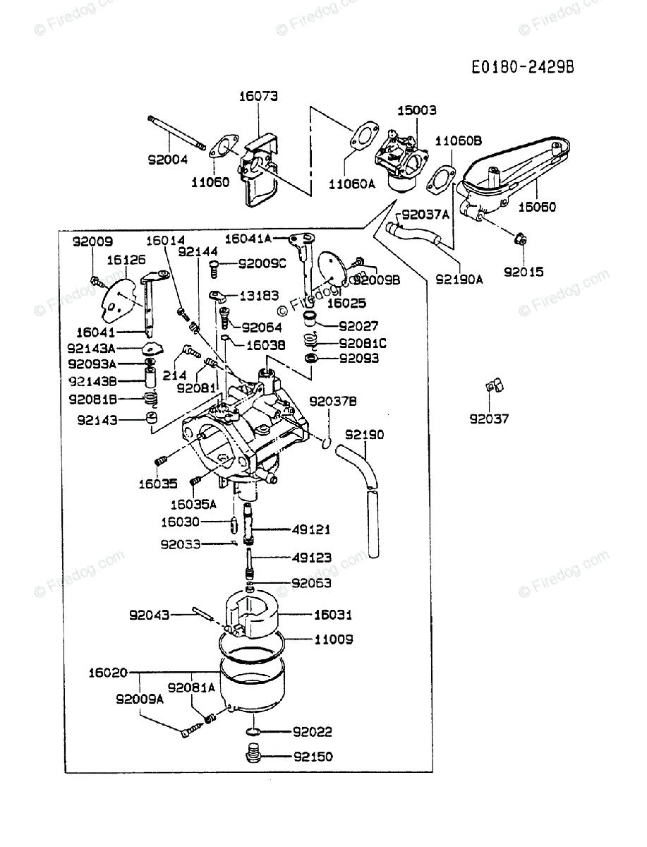 Kawasaki 4 Stroke Engine FC540V OEM Parts Diagram for