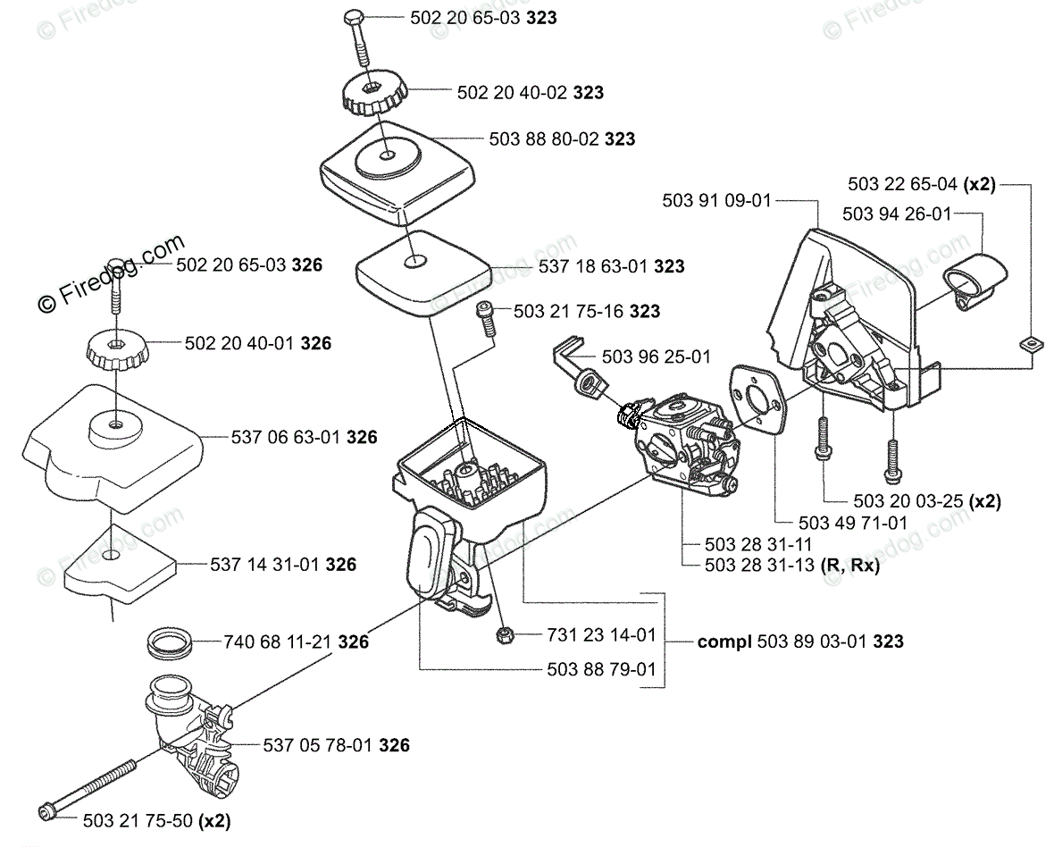 Husqvarna Trimmer / Clearing Saw 326 RJX (2004-03) OEM