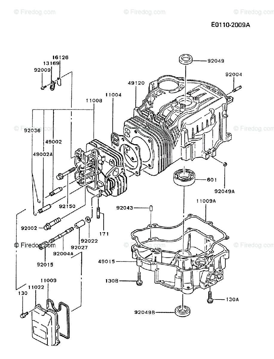 medium resolution of kawasaki 4 stroke engine fc540v oem parts diagram for cylinder crankcase firedog com