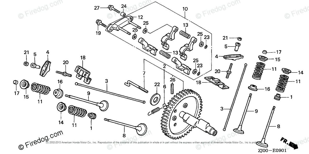 Honda Engines Engine GX OEM Parts Diagram for CAMSHAFT (2