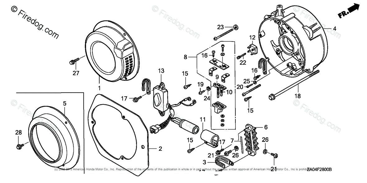 Honda Power Equipment Generator EL5000 A GENERATOR, JPN
