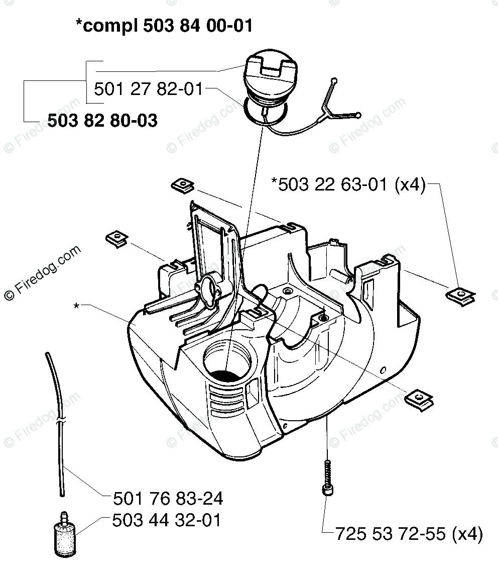 Husqvarna Line Trimmer 232 R (1998-01) OEM Parts Diagram
