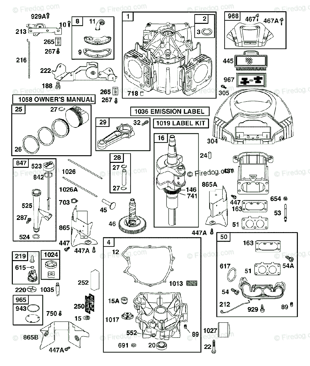 hight resolution of husqvarna ride mower yth 2454 t 917 279220 2006 05 oem parts diagram for briggs engine part 1 firedog com