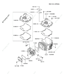 kawasaki 4 stroke engine fj180v oem parts diagram for cylinder crankcase firedog com [ 917 x 1200 Pixel ]