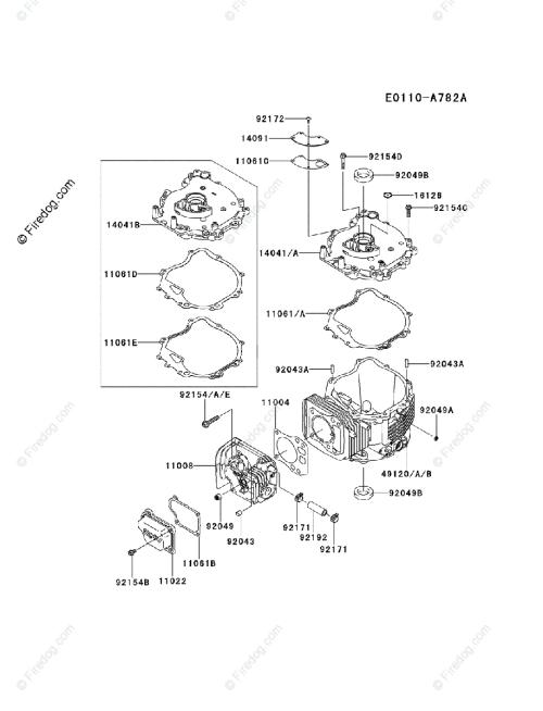 small resolution of kawasaki 4 stroke engine fj180v oem parts diagram for cylinder crankcase firedog com