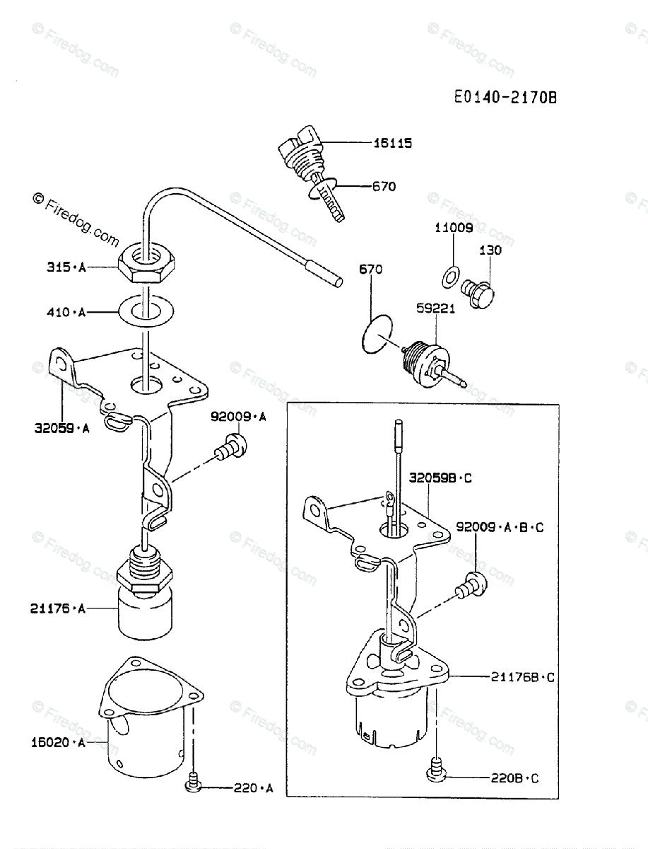 hight resolution of kawasaki 4 stroke engine fa210d oem parts diagram for lubrication equipment firedog com