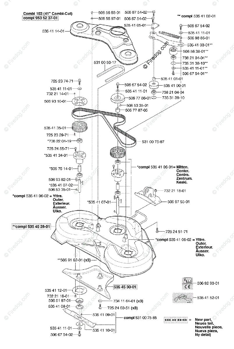 Husqvarna Ride Mower Rider 155 (2003-01) OEM Parts Diagram