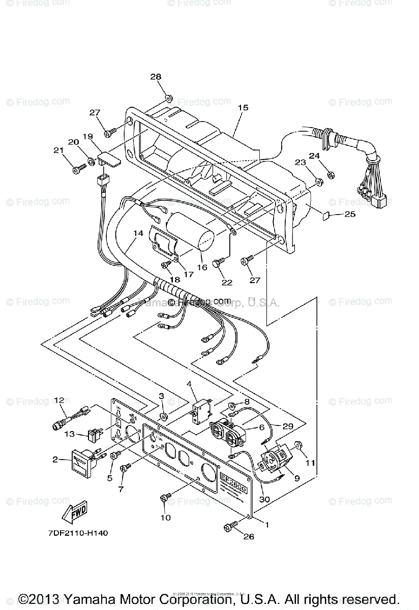 Yamaha Outdoor Power Equipment All Years OEM Parts Diagram