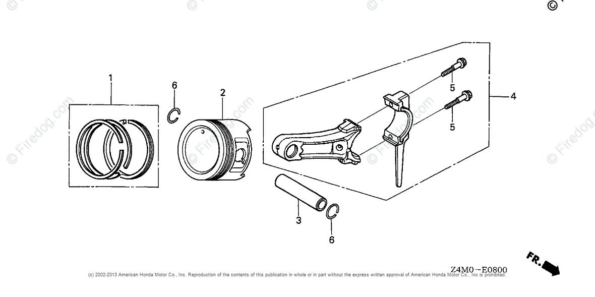 Honda Engines Engine GX OEM Parts Diagram for Piston