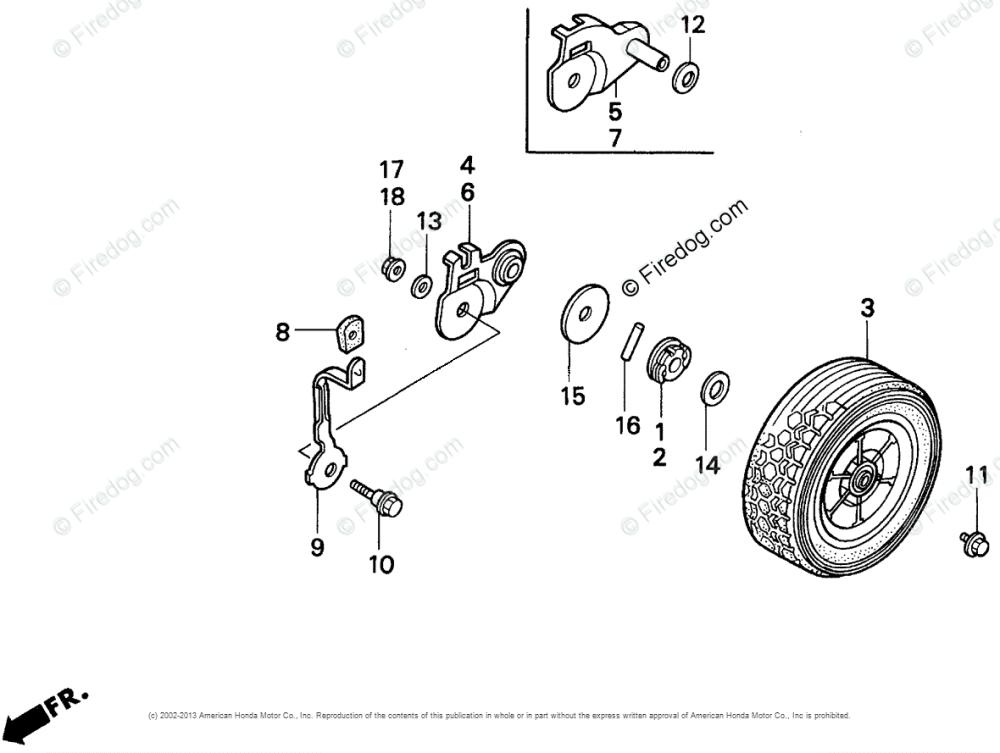 medium resolution of honda power equipment lawn mower hr215k1 sxa lawn mower usa vin mzam 6200001 oem parts diagram for rear wheel firedog com