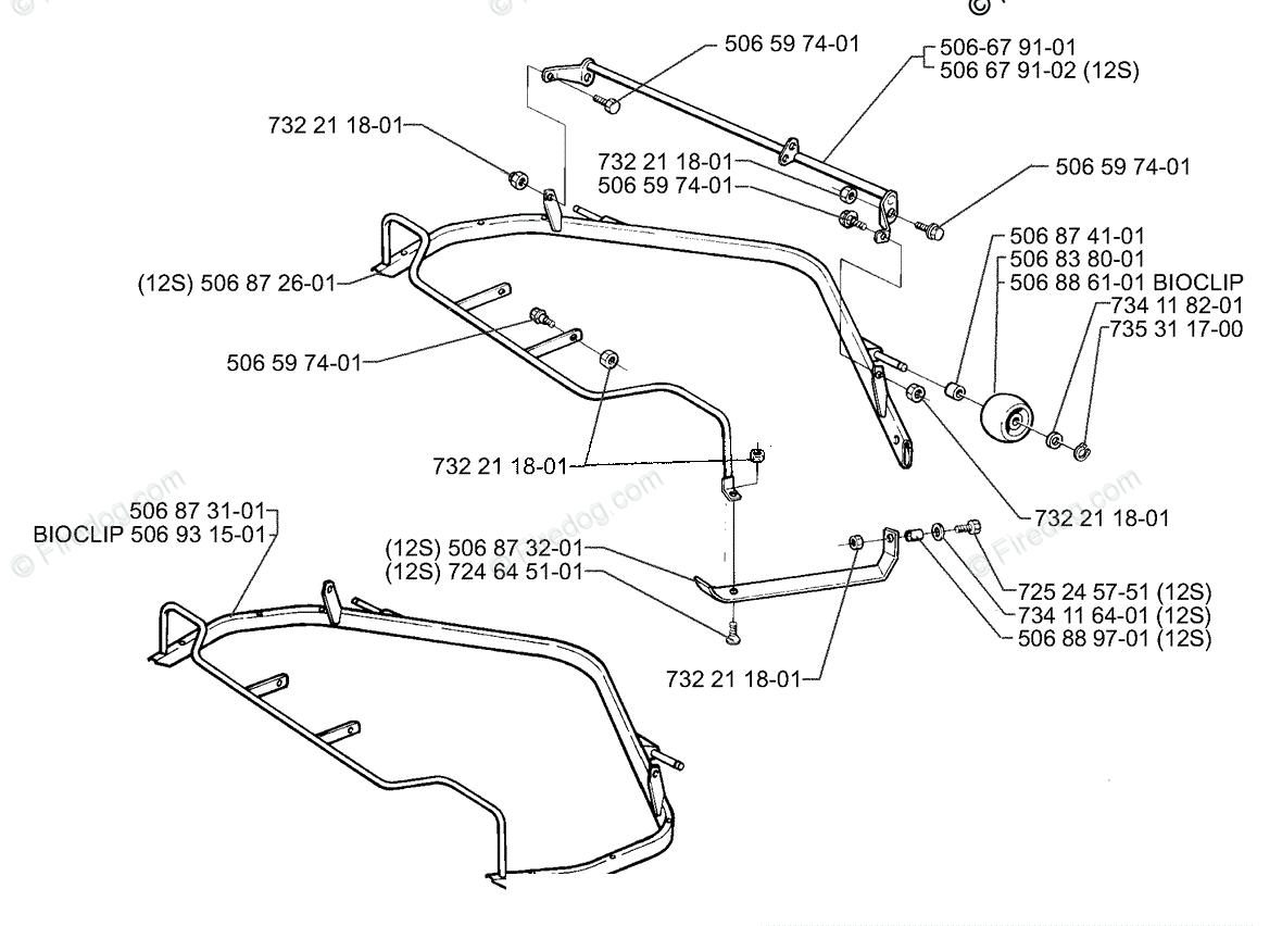 Husqvarna Lawn Mower Rider 970 (1997-04) OEM Parts Diagram