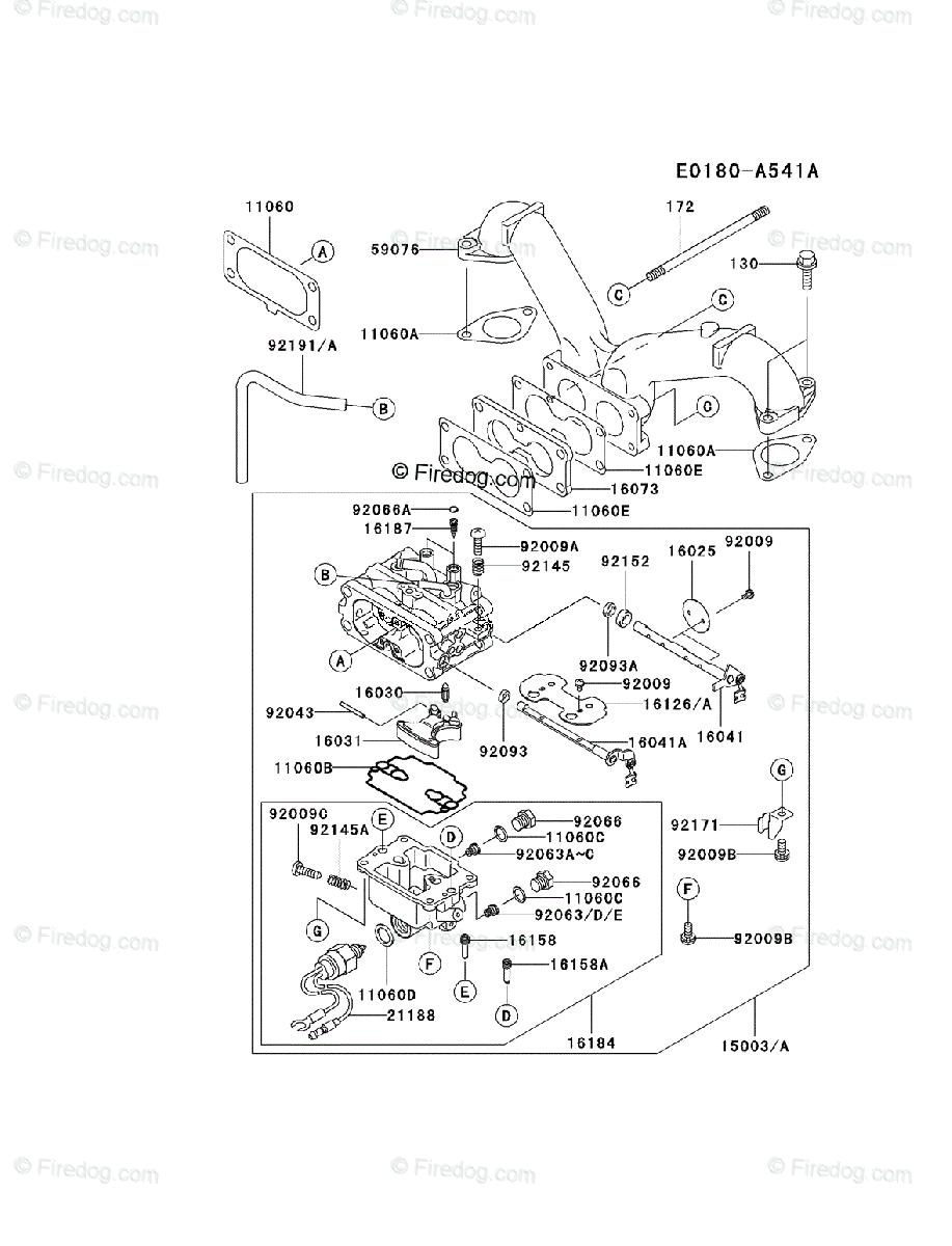 hight resolution of kawasaki 4 stroke engine fh601v oem parts diagram for carburetor firedog com