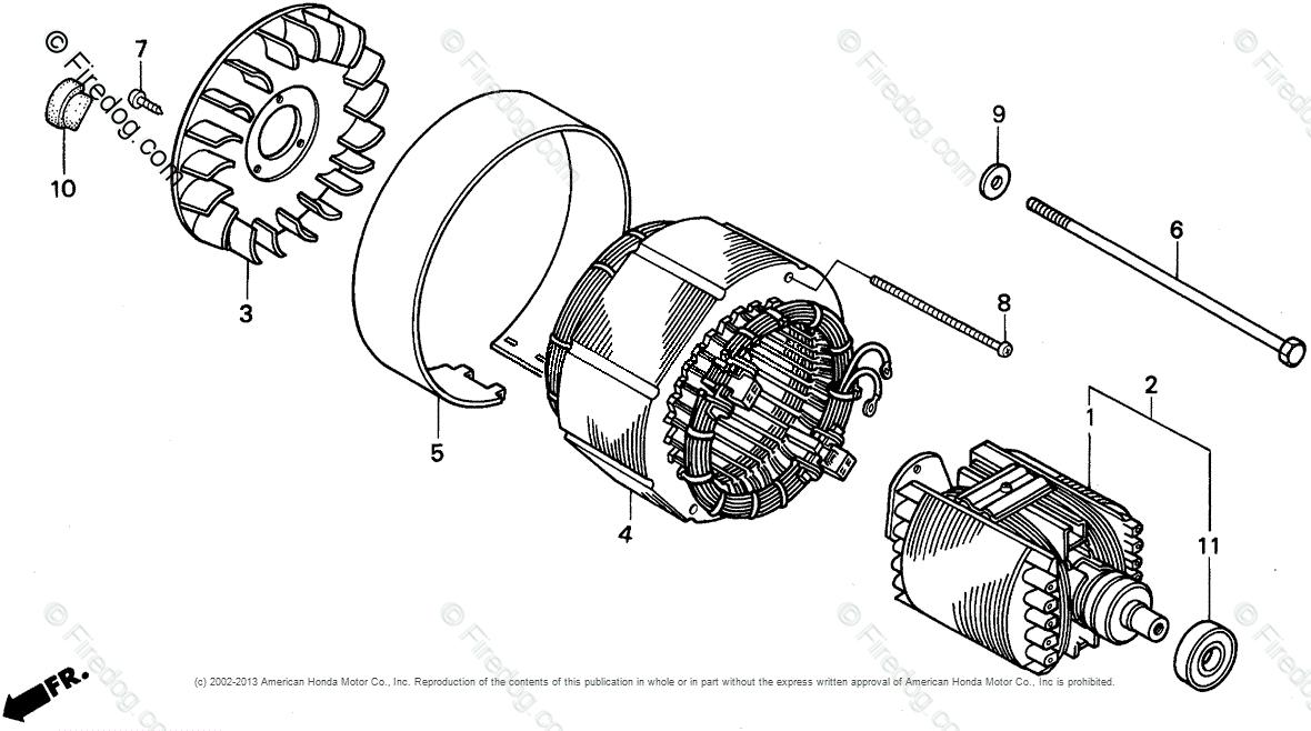 Honda Power Equipment Generator EG3500X A GENERATOR, JPN