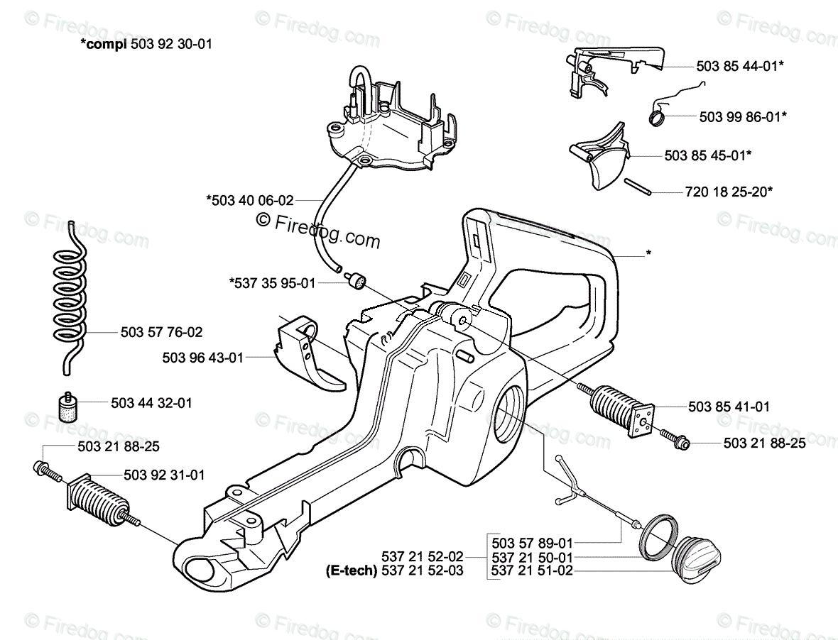 Husqvarna Chain Saw 357 Xp 02 Oem Parts Diagram For