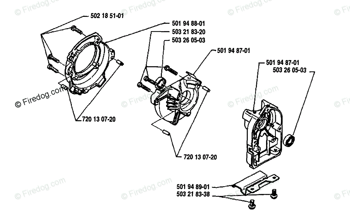 Husqvarna Brush Cutter 22 R (1989-10) OEM Parts Diagram