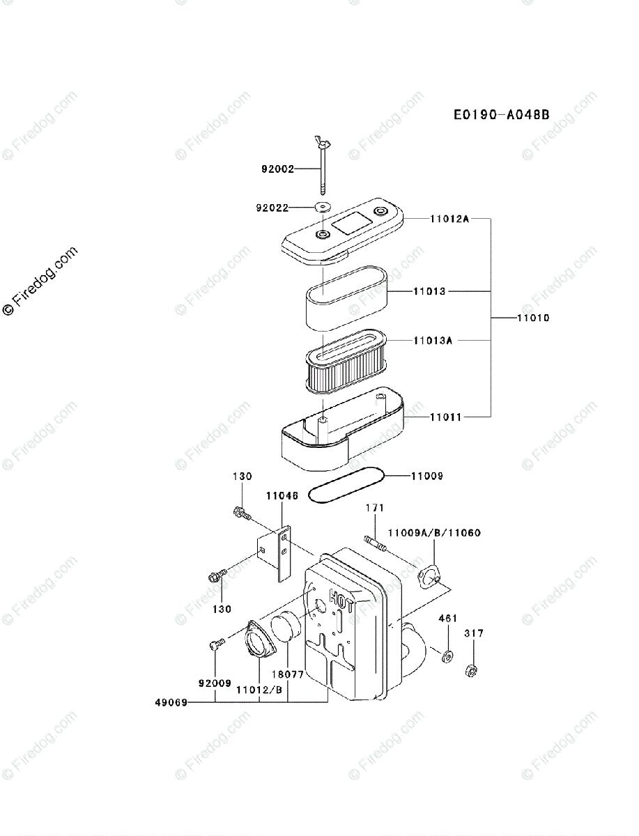 Kawasaki 4 Stroke Engine FB460V OEM Parts Diagram for AIR