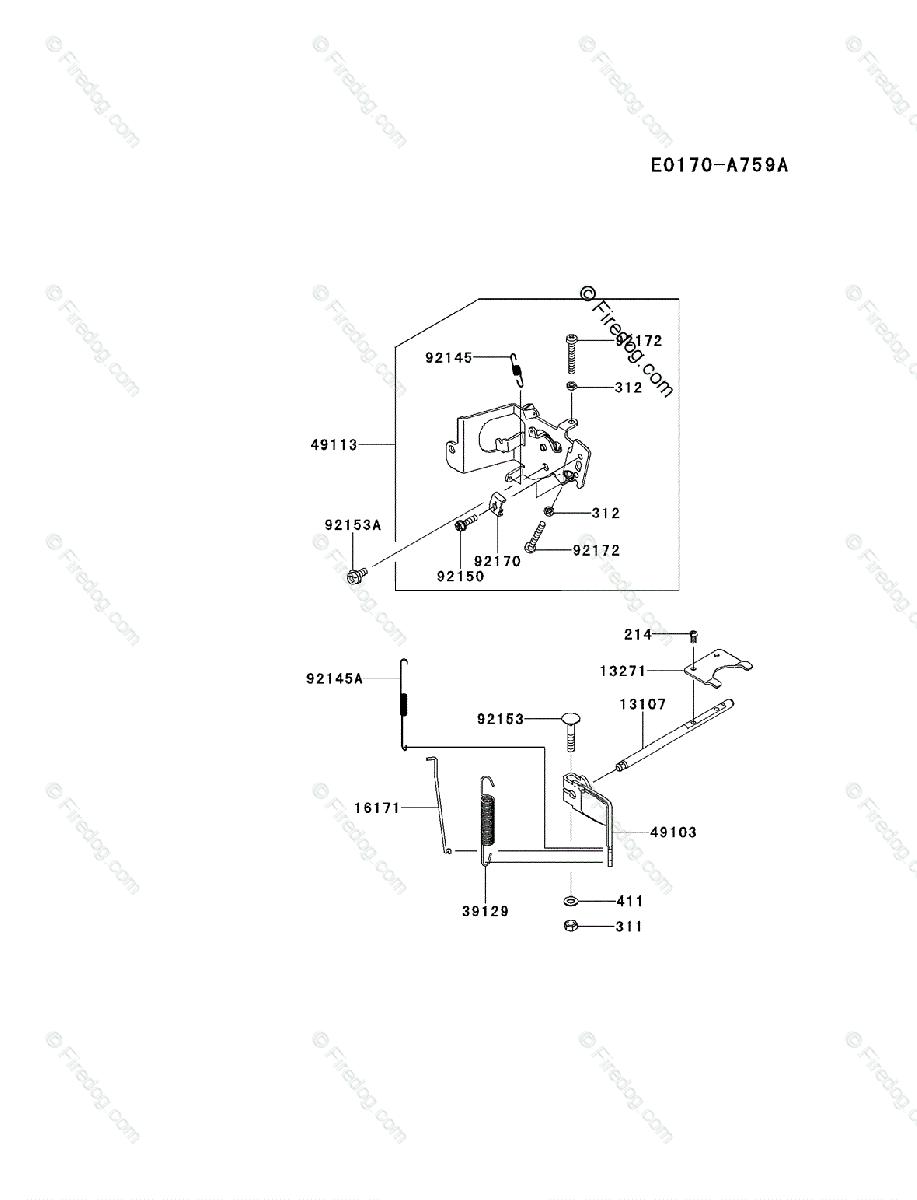 Kawasaki 4 Stroke Engine FS541V OEM Parts Diagram for
