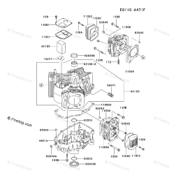 kawasaki 4 stroke engine fh500v oem parts diagram for cylinder crankcase firedog com [ 917 x 1200 Pixel ]