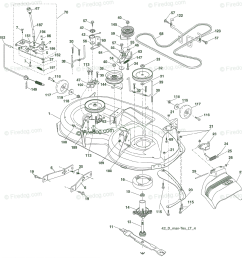 husqvarna ride mower yt 1942 t 96043000300 2006 05 oem parts diagram for mower deck firedog com [ 1154 x 1200 Pixel ]