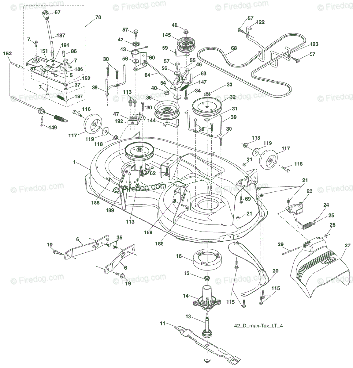 hight resolution of husqvarna ride mower yt 1942 t 96043000300 2006 05 oem parts diagram for mower deck firedog com