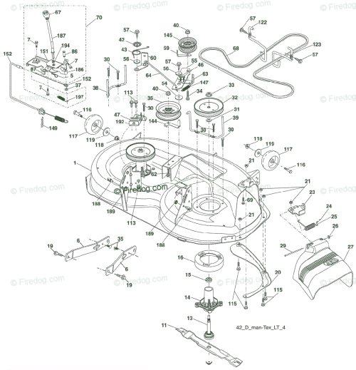 small resolution of husqvarna ride mower yt 1942 t 96043000300 2006 05 oem parts diagram for mower deck firedog com