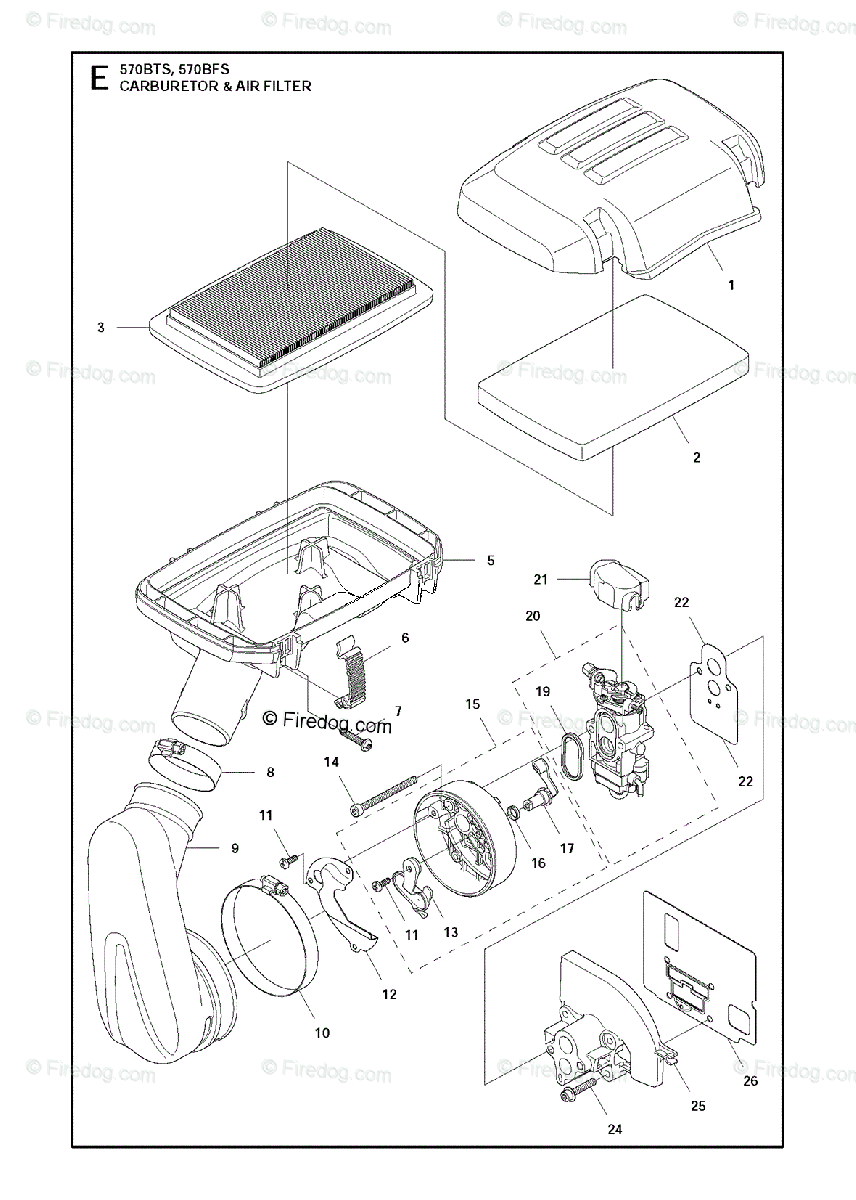 Husqvarna BLOWERS 570BTS (2011-05) OEM Parts Diagram for