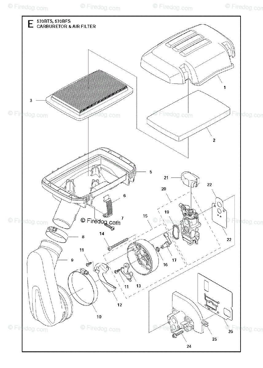 Husqvarna BLOWERS 570BTS (2011-05) OEM Parts Diagram for