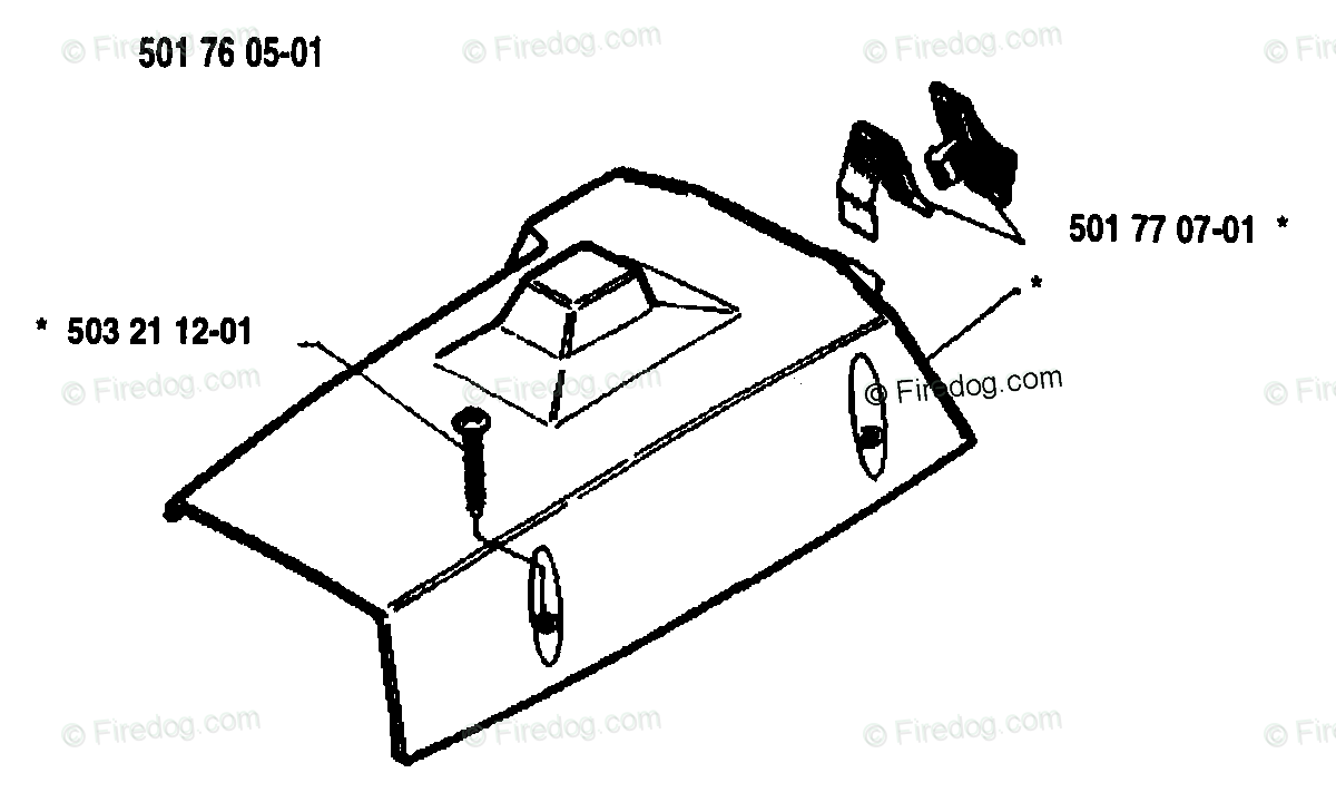 Husqvarna Chain Saw 50 Rancher (1983-01) OEM Parts Diagram