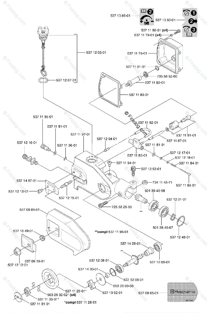 Husqvarna Pole Saw 323 P4 (2002-05) OEM Parts Diagram for