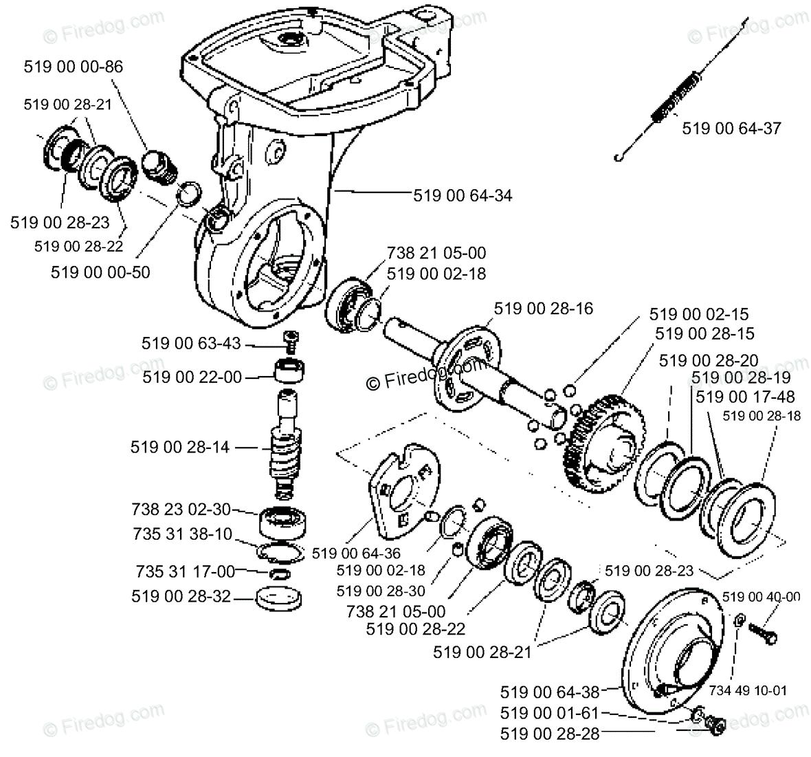Husqvarna Tiller T 300 (1995-08) OEM Parts Diagram for