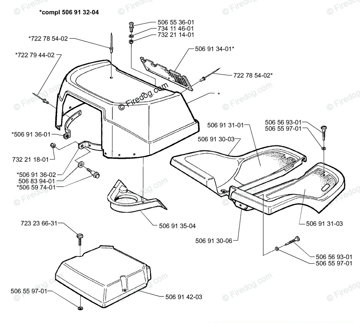 Husqvarna Ride Mower Rider 970 H-15 (1998-01) OEM Parts
